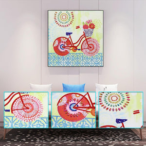Bicycle - Special Shaped Diamond - 30x30cm