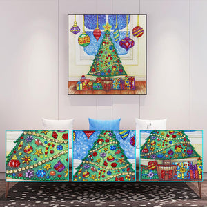 5D DIY Special Shaped Diamond Painting Christmas Tree Embroidery Craft Kits
