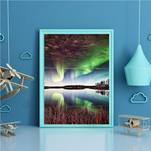 Aurora Scenery - Full Round Diamond - 40x30cm