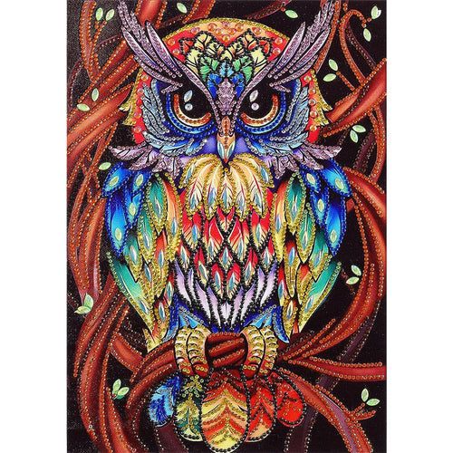 Owl 5D DIY Special Shaped Diamond Painting