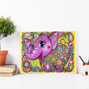 Elephant  - Special Shaped Diamond - 30x40cm