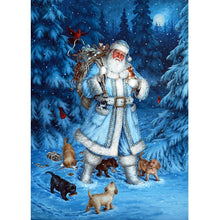 Load image into Gallery viewer, Santa Claus Snowman  - Full Round Diamond - 40x30cm