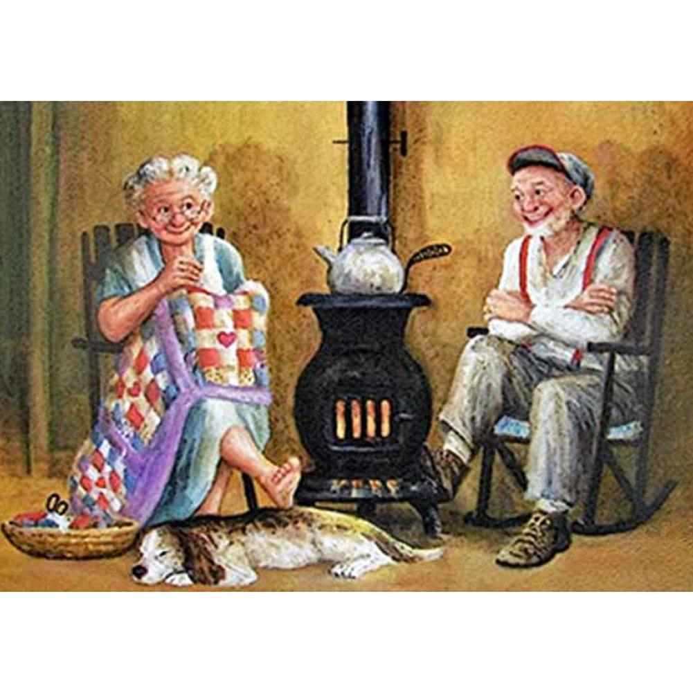 Older Couples  - Full Round Diamond - 30x40cm
