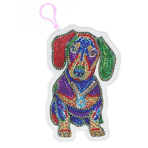DIY Special Shaped Diamond Painting Dog Wallet Embroidery Coin Purse