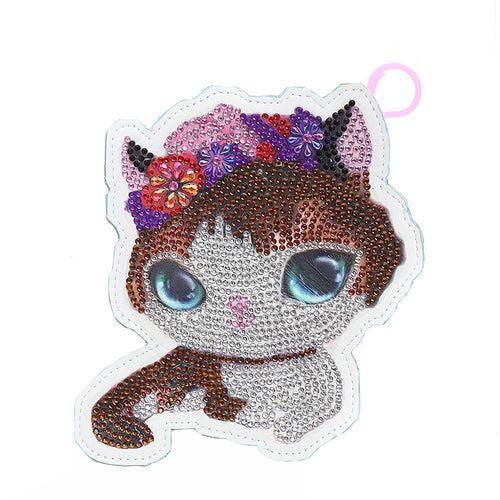 DIY Special Shaped Diamond Painting Cat Wallet Embroidery Coin Purse