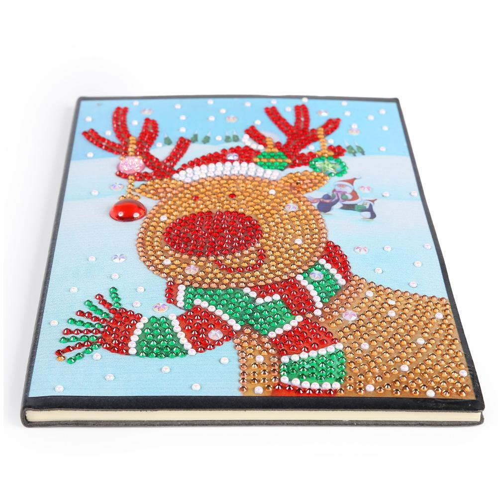 Christmas Elk 60 Pages A5 Diary Book