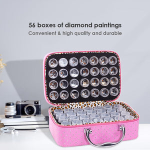 56 Bottles Diamond Painting Container Storage Bag Zip Carry Case Box Tools