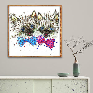 Cats - Special Shaped Diamond - 30x40cm