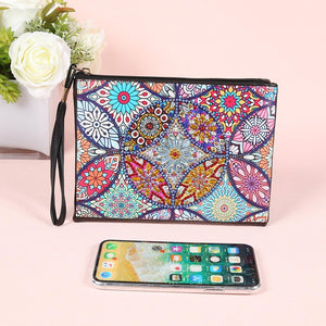 Mandala Wristletet Zipper Clutch