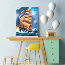 Load image into Gallery viewer, Sailboat  - Full Round Diamond - 30x40cm
