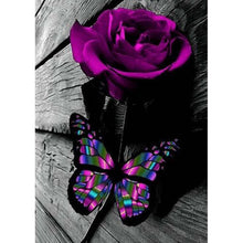 Load image into Gallery viewer, Butterfly Rose  - Full Round Diamond - 30x40cm