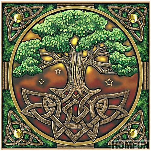 Tree - Full Round Diamond - 30x30cm