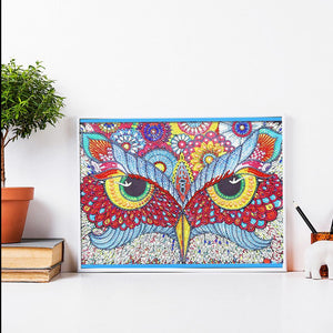 Owl  - Special Shaped Diamond - 30x40cm