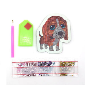 DIY Special Shaped Diamond Painting Dog Wallet Coin Purse
