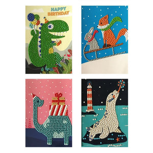 4pcs Happy Birthday Cards Party