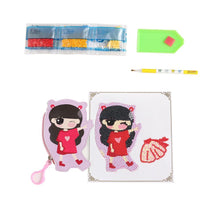 Load image into Gallery viewer, Special Shapedet Girl Coin Purse Keychain