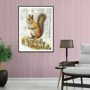 Squirrel  - Full Round Diamond - 30x40cm