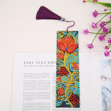 Load image into Gallery viewer, Flower Leather Tassel Bookmark
