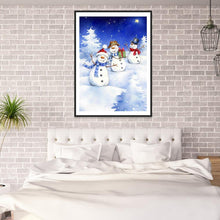 Load image into Gallery viewer, Snowman  - Full Round Diamond - 30x40cm