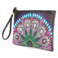 Load image into Gallery viewer, Mandala Wristletet Zipper Clutch