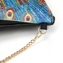 Load image into Gallery viewer, Peafowl Leather Chain Crossbody Bags