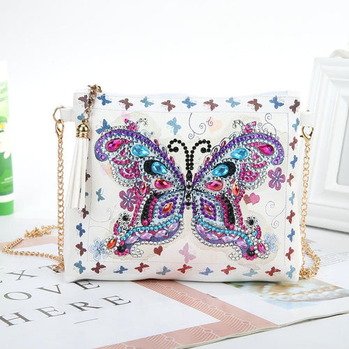 DIY Special Shaped Diamond Painting Girl Wallet Coin Purse
