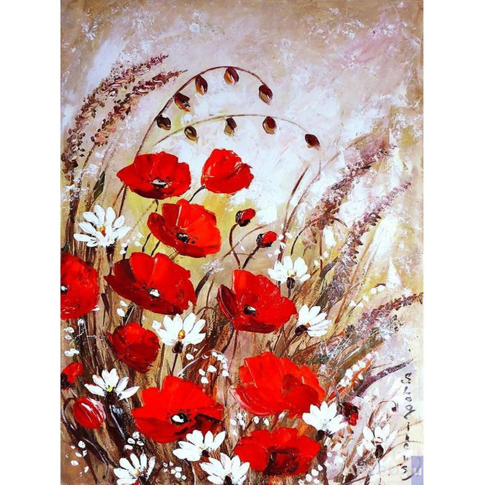 Flowers  - Full Round Diamond - 30x40cm