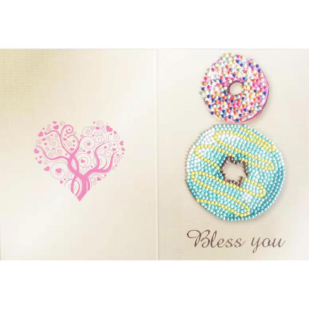 Greeting Card Doughnut Print Birthday Valentine Bless