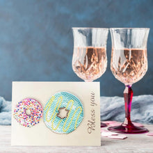 Load image into Gallery viewer, Greeting Card Doughnut Print Birthday Valentine Bless