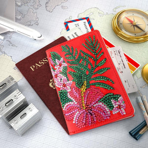 Flower Special Shape Leather Passport Protective Cover