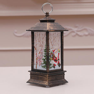 Xmas LED Lantern Light Flames Candle Lamp Glowing Home Party Decor (Santa)