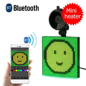 Square Bluetooth LED Light Car Emotion Sign Display Board for Android iOS