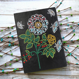 DIY Tree Special Shaped Diamond 50 Pages A5 Notebook(Without Lines)