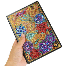 Load image into Gallery viewer, DIY Flower Special Shaped Diamond 50 Pages A5 Notebook(Without Lines)