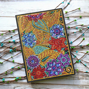 DIY Flower Special Shaped Diamond 50 Pages A5 Notebook(Without Lines)