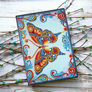 DIY Butterfly Special Shaped Diamond 50 Pages A5 Notebook(Without Lines)
