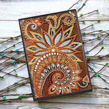 Load image into Gallery viewer, DIY Mandala Special Shaped Diamond 50 Pages A5 Notebook(Without Lines)