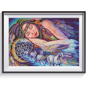 Beauty 5D DIY Special Shaped Diamond Painting