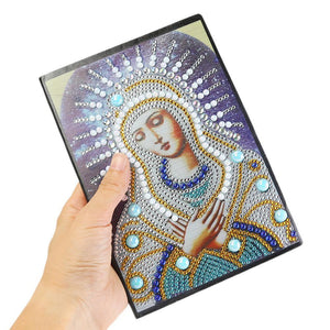 DIY Goddess Special Shaped Diamond 50 Pages A5 Notebook