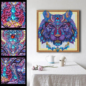 Lion Head 5D DIY Special Shaped Diamond Painting
