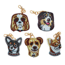 Load image into Gallery viewer, 5pcs Dog Special Shape Full Drill DIY Diamond Keychain