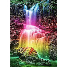 Load image into Gallery viewer, Rainbow Waterfall 5D DIY Full Drill Diamond Painting