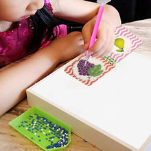 Load image into Gallery viewer, Fruits Manual Knowledge Cards DIY Diamond Kids Puzzle Toy