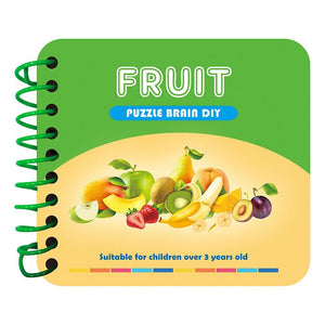 Fruits Manual Knowledge Cards DIY Diamond Kids Puzzle Toy
