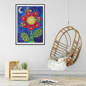 Flower 5D DIY Special Shaped Diamond Painting