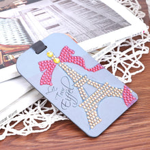 Load image into Gallery viewer, Tower Ribbon DIY Special Shape Diamond Luggage Boarding Pass