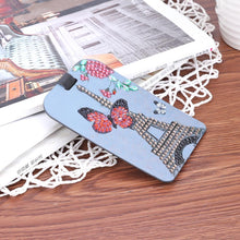Load image into Gallery viewer, Butterfly Tower DIY Special Shape Diamond Luggage Boarding Pass