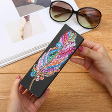 Load image into Gallery viewer, DIY Diamond Leather Sunglasses Storage Box Portable Glasses Case