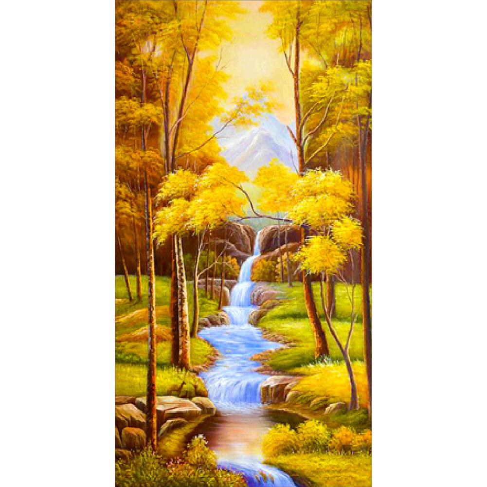 5D DIY Full Drill Diamond Painting Autumn Scenery Embroidery Mosaic Kit(55CMx100CM)