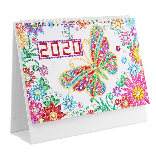 DIY Butterfly Special Shaped Diamond 2020 New Year Table Calendar